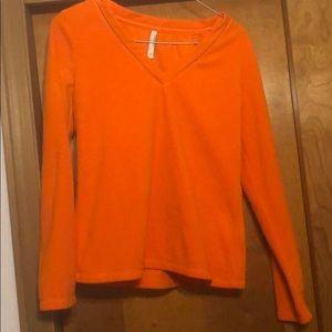 Old Navy Bright Orange Fleece Size XS